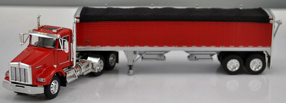 DCP / FIRST GEAR 1/64 SCALE T-800 KENWORTH DAY CAB WITH WILSON 34' GRAIN TRAILER