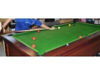 Pool Table. Slate bed pub style