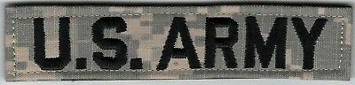 ACU US ARMY Distinguishing Name Tape Patch VELCRO® BRAND Hook Fastener