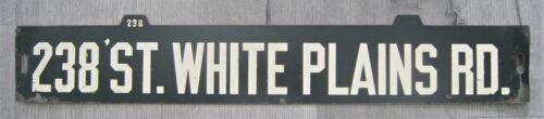 Vintage New York Subway Train Low-V Destination Sign 238 Street White Plains Rd