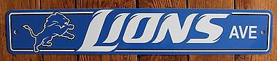 Licensed Street Sign Detroit Lions Ave NFL Football Sports League ()