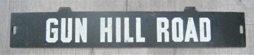 Vintage New York Subway Train Low-V Metal Destination Sign Gun Hill Road Bronx