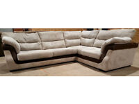 Scs Corner sofa cream/brown. Can deliver