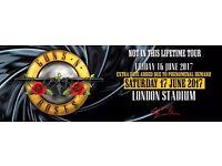 Guns 'n Roses no. 2 tickets 17th June London. Sector 240