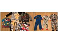 27x BOYS 6-7 YEARS + 7-8 YEARS JOBLOT 4 SUPERHERO PJS ,NEXT FLASH ,PIKACHU,NIKE