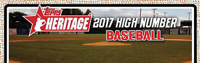 2017 Topps Heritage High Number Complete Baseball Card Set 200 Cards 501-700 Card Trading Card Set