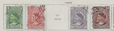 4 Chile Stamps from Quality Old Antique Album 1900