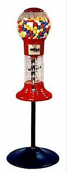 Lil Whirler Spiral Gumball Machine With Stand - Red