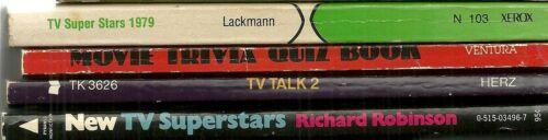 Lot of 4 Paperback Book - 1970S Television - Trivia - Celebrity - Nostalgia - TV