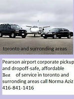 Pearson airport pickup and dropoff