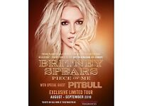 2 Tickets £100 - Britney Spears: Piece of Me Tour - Friday 24th August, London O2