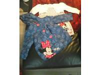 Disney baby 18-24 month minnie mouse dress and jacket set.