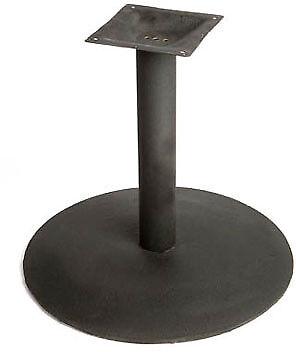 "Oak Street Table Base 30"" dia. base spread 4"" steel column black - B30DISC-STD"