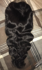 HUMAN HAIR WIGS /3 BUNDLES WITH CLOSURE FOR SALE