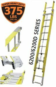 NEW ECHELLE FEATHERLITE LADDER SUPER-HEAVY DUTY FIBERGLASS