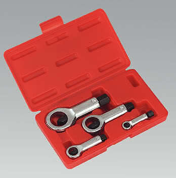 Boxed New Nut Splitter Tool Set 4 Piece Set 9mm - 27mm Rust Resistant