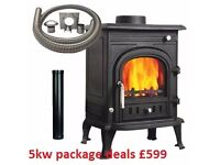 LOOK !!! STOCK CLEARANCE STOVES !!!! modern boiler multi fuel wood burner multifuel fireplace stove