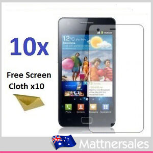 10x Superior LCD Screen Protectors for Samsung Galaxy S2 II i9100 Anti Glare