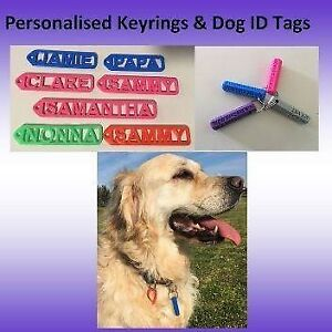 Custom Name Keyring & Pet or personal ID tag