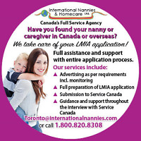 We help w/ LMIA paperwork 4 your Nanny/Caregiver #780.456.9183