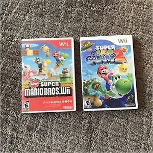 Super Mario bros Wii and Super Mario Galaxy 2 EMPTY cases