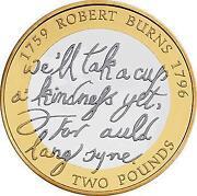 Robert Burns £2 Coin