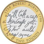 Robert Burns 2 Pound Coin