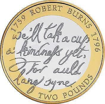 Robert Burns 2 Pound Coin Ebay
