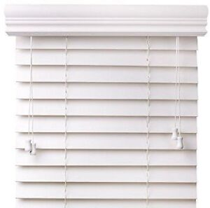 3 x Solid wood blinds (white)