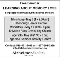 Learning About Memory Loss