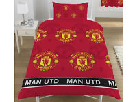 Manchester United official single bed duvet cover set -- Man Utd