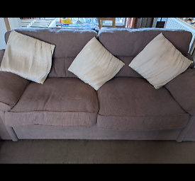 Large 3 seater sofa and 2 arm chairs