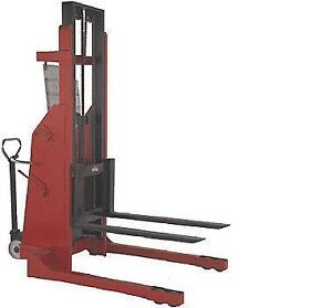 Brand New Semi Electric Hydraulic Pallet Stacker 1500lbs