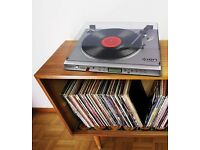 Record Player Turntable plus Vinyl Records Wanted for Present