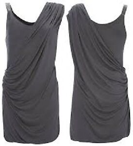 Brand New FCUK French Connection Grey Grecian Mini Dress