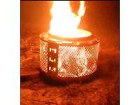 Fire pit drum log burner £15.00 each