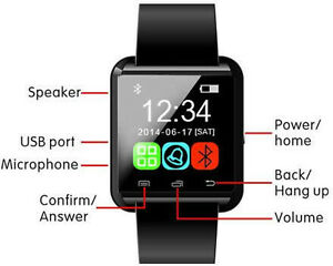 SMART WATCH PHONE MATE BLUETOOTH FOR IPHONE IOS SAMSUNG ANDROID Regina Regina Area image 1