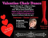 Valentine's Day Chair Dance Workshop at Pole Fitness Kingston