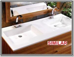 bathroom white marble vanity top brand new