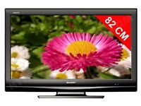 "Sharp 32"" inch LCD HD TV with Freeview Built in, 2 x HDMI + USB Port not 37 40 May Deliver Locally"