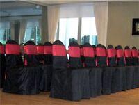 Chair cover , sash rental