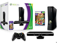 XBOX 360 4 GB W/ KINECT AND KINECT ADVENTURES BRAND NEW!!!