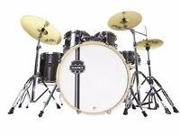 "Mapex Horizon II 20"" Fusion Acoustic Drum kit in Jet Black"