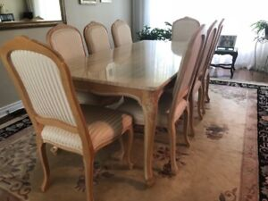 Moving Sale: The Art Shop Marble top dining room table