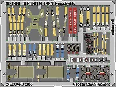 Eduard Accessories 49036 - 1:48 F-104G Starfighter Gq-7 Seatbels Für Hasegawa Ba