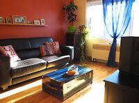Grand 5 ½ meublé à louer – 1 200 $/ mois tout inclus et tout fou