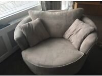 House of Fraser Cuddle Chair in immaculate condition ( light beige)