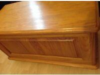 pine wooden chest