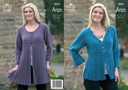 Aran Coat Knitting Pattern  6a235873c