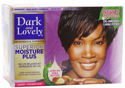 Dark and Lovely - Relaxer Kit SUPER / Haarglättungsmittel Glättungscreme - Relaxer Kit Super